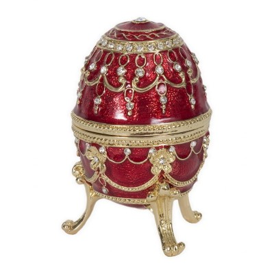 Ruby Red Egg-Music Box