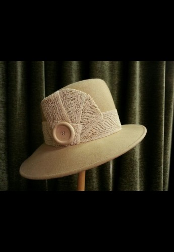 Cream Angle Hat