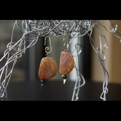 Orange Fire Earrings