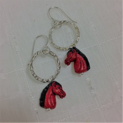 Black Mane Earrings