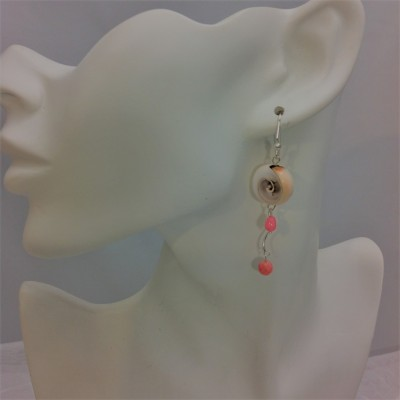 Coral Shell Swirl Earrings