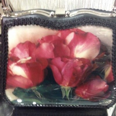 Double Pink Rose Delight Handbag
