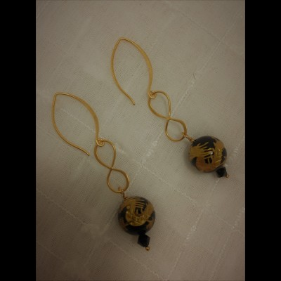 Golden Dragon Earrings