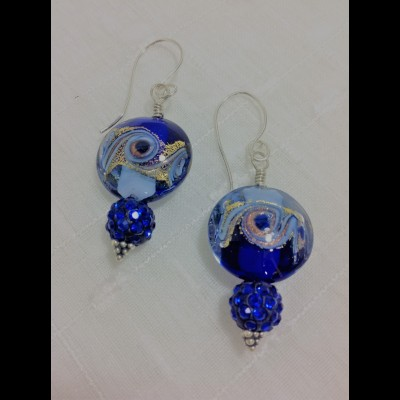 Dauphine Blue Earrings