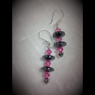 Smokey Rose Earrings