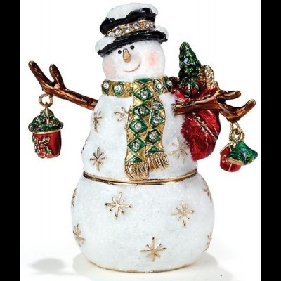 Snowman with Coal Bucket