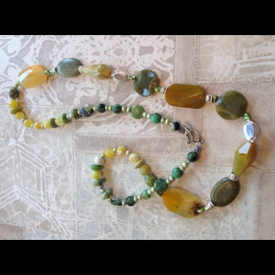 Butterscotch Jade Necklace