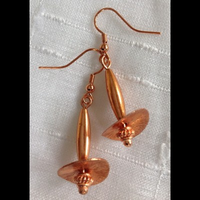 Copper Drip Earrings