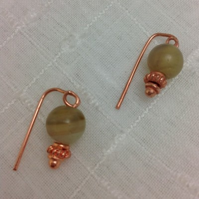 Copper Agate Earrings