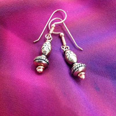 Copper Totem Face Earrings