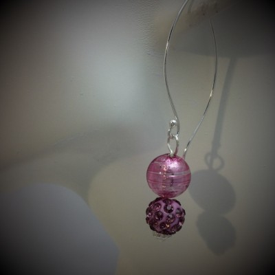 Rose Murano Pave Earrings