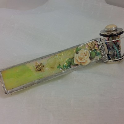 Lacquered White Rose Kaleidoscope