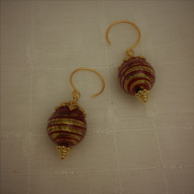 Crimson Swirl  Earrings