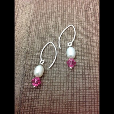 Pink Arc Earrings
