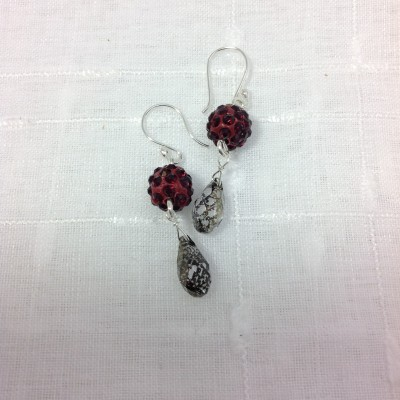Mottled Merlot Earrings