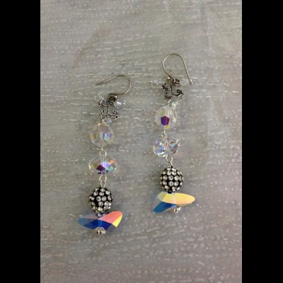 Pave Wings Earrings