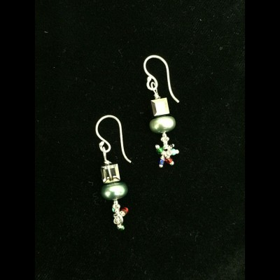 Cubist Pearl Earrings