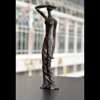 Bronze Standing Lady Sculpture