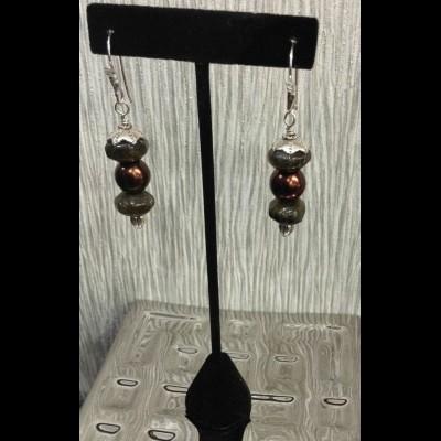 Laboradorite Crystal Earrings