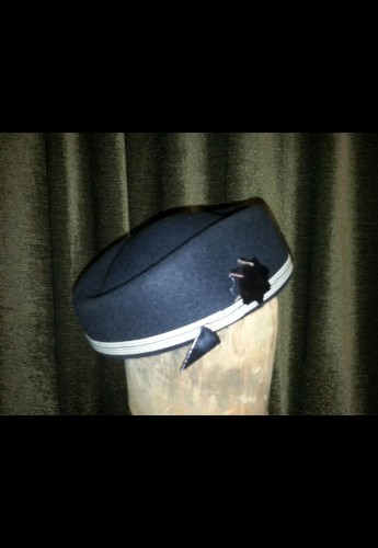 Black topper with Bakelite hat pin
