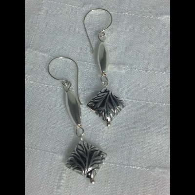 Slinder Silver Earrings