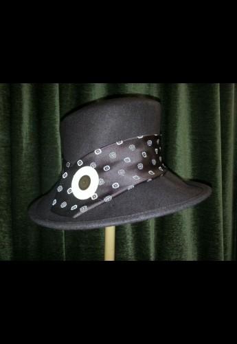 Brown Angle Brim Hat