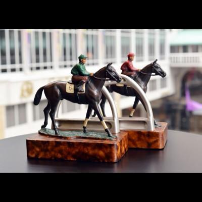 Jockey Stirrup Bookends